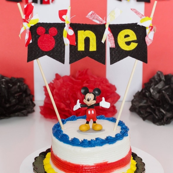 Phenomenal Myself Party Supplies Mickey Mouse 1St Birthday Cake Topper Personalised Birthday Cards Petedlily Jamesorg